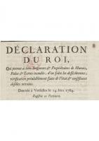 Déclaration du roi en 1764